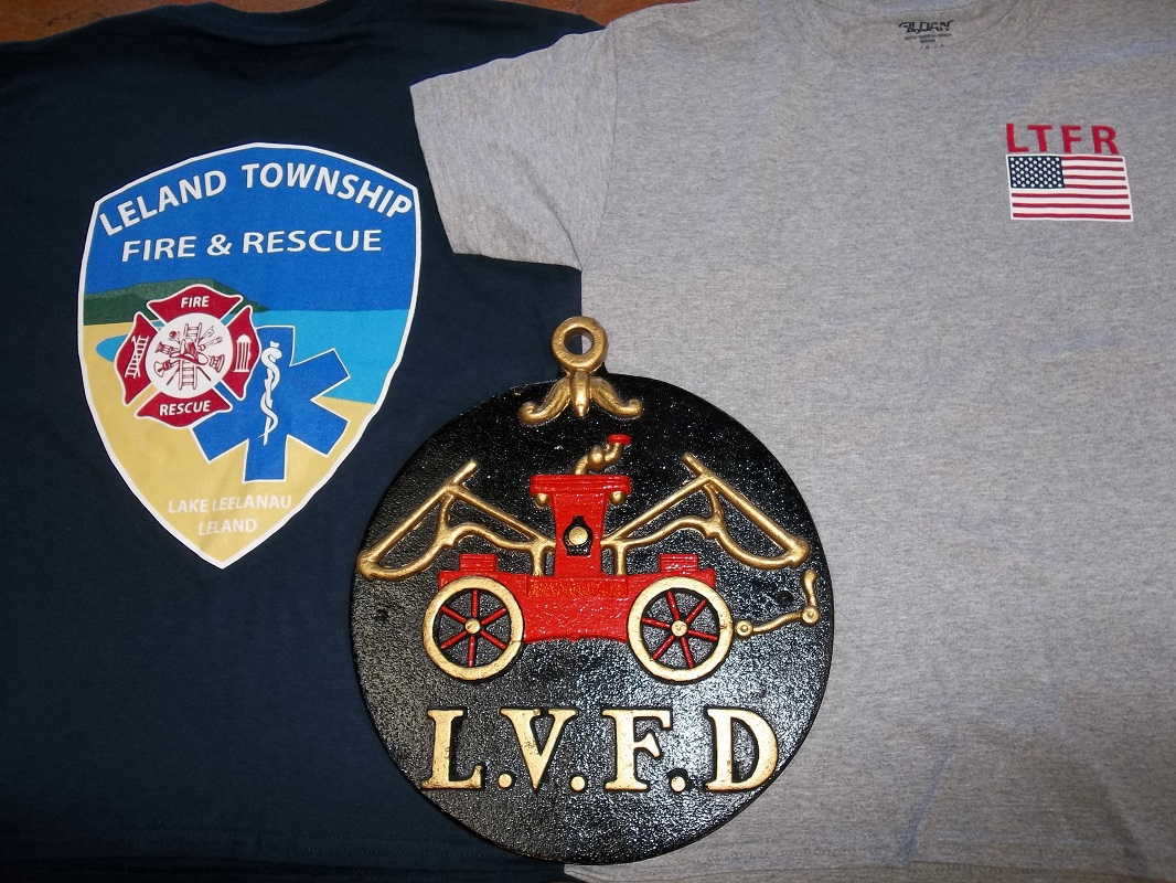 Fire Department Tee Shirts And Fire Marks For Sale Leland Township